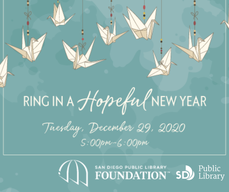 Ring in a Hopeful New Year on December 29 with the Library and Library Foundation